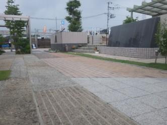 石・レンガ舗装