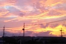 夕焼けが綺麗でつい写真を撮りました。